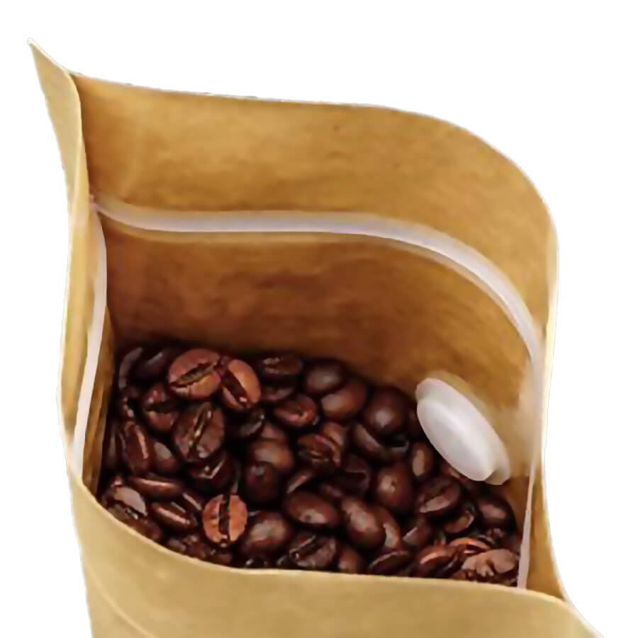kilitli valfli kahve poşeti