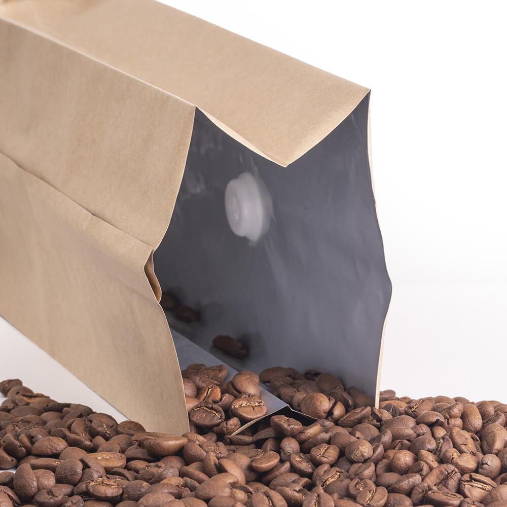 Valfli kraft hazır kahve torbası